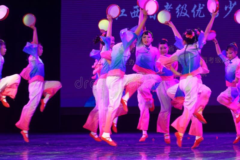 Wish of the moon- Beijing Dance Academy grading test outstanding children`s dance teaching achievement exhibition Jiangxi. Sponsored by the Beijing Dance Academy royalty free stock photo