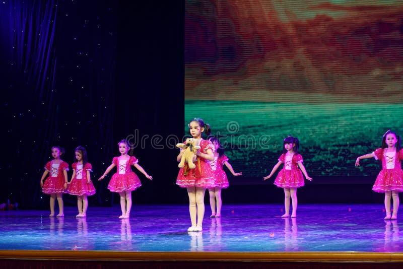 Good friends- Beijing Dance Academy grading test outstanding children`s dance teaching achievement exhibition Jiangxi. Sponsored by the Beijing Dance Academy stock photo