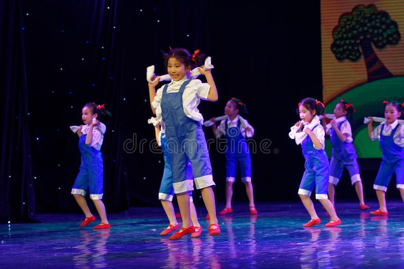 Labor glory- Beijing Dance Academy grading test outstanding children`s dance teaching achievement exhibition Jiangxi. Sponsored by the Beijing Dance Academy royalty free stock images