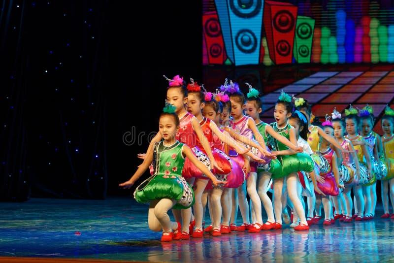 Chinese knot- Beijing Dance Academy grading test outstanding children`s dance teaching achievement exhibition Jiangxi. Sponsored by the Beijing Dance Academy stock photos