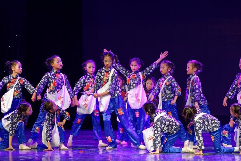 Newsboys- Beijing Dance Academy grading test outstanding children`s dance teaching achievement exhibition Jiangxi. Sponsored by the Beijing Dance Academy Grading stock photo