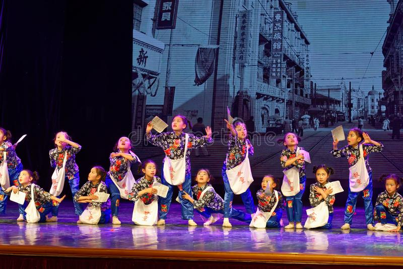 Newsboys- Beijing Dance Academy grading test outstanding children`s dance teaching achievement exhibition Jiangxi. Sponsored by the Beijing Dance Academy Grading stock photography