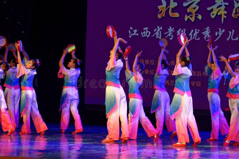 Wish of the moon- Beijing Dance Academy grading test outstanding children`s dance teaching achievement exhibition Jiangxi. Sponsored by the Beijing Dance Academy stock photo