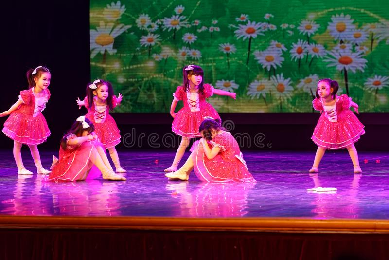 Good friends- Beijing Dance Academy grading test outstanding children`s dance teaching achievement exhibition Jiangxi. Sponsored by the Beijing Dance Academy royalty free stock photos