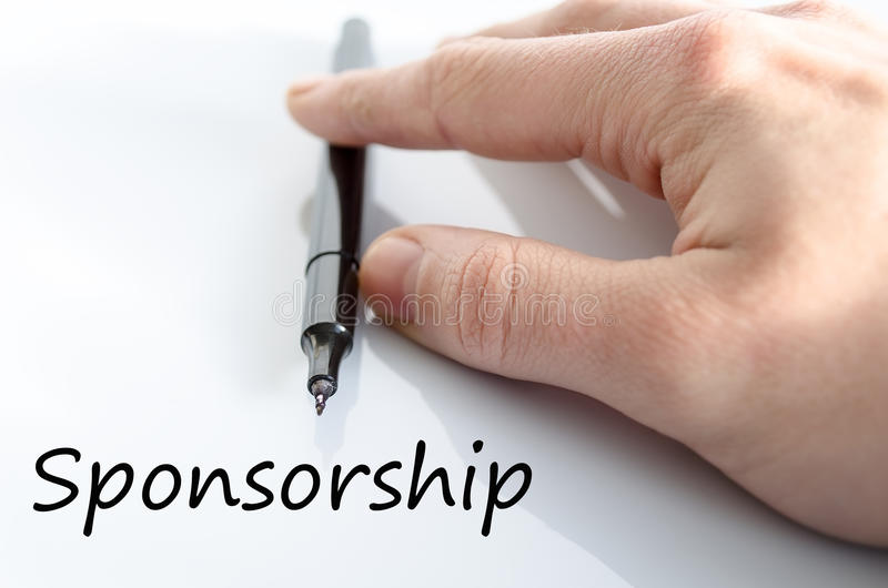 Download Sponsorship text concept stock image. Image of donating - 88512923