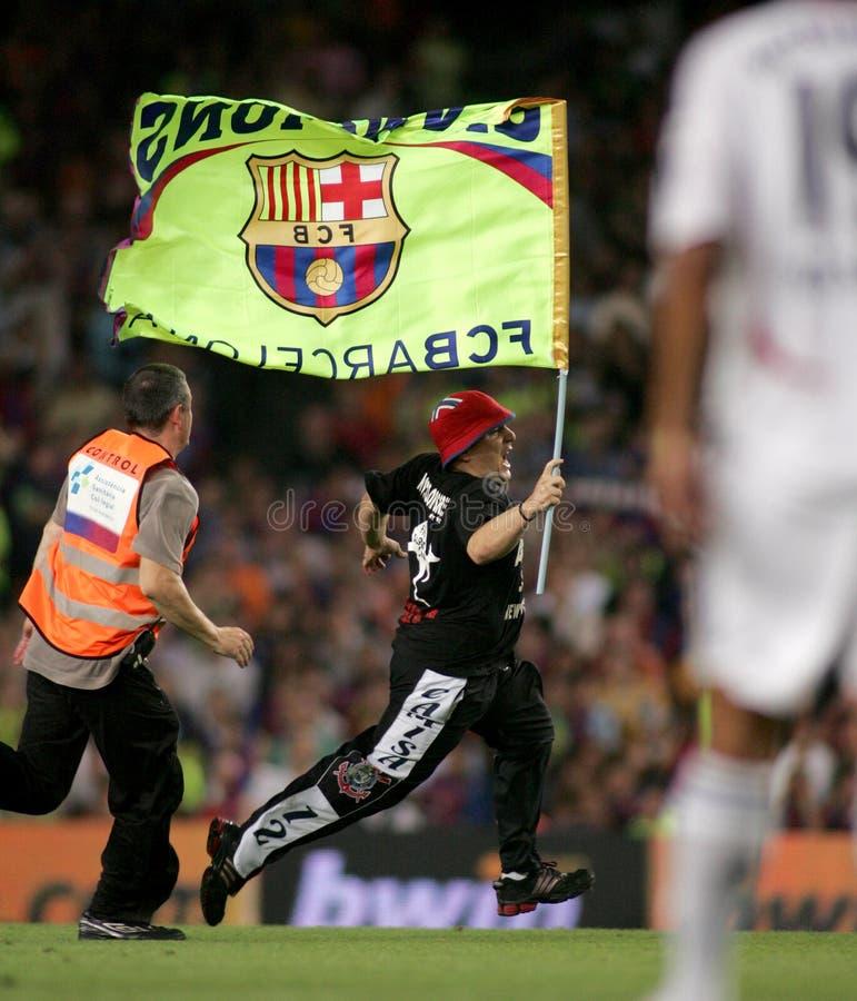 Spontane verdediger van Barcelona royalty-vrije stock fotografie