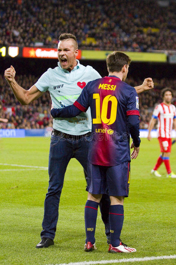 Free Spontaneous Supporter And Leo Messi Stock Photo - 31973240