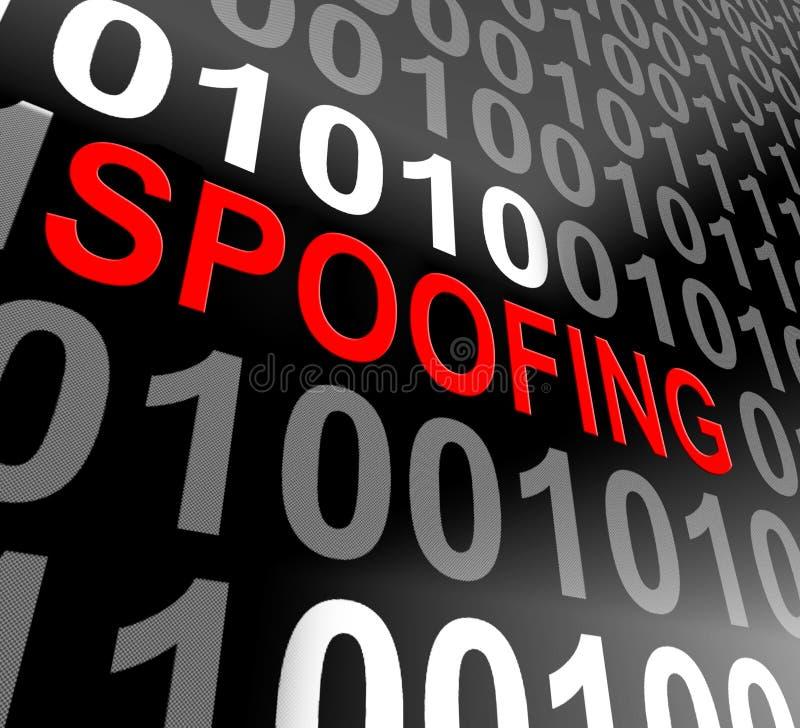 Spoofing Wiedergabe des Angriff Cyber-Verbrechen-Hokuspokus-3d stock abbildung