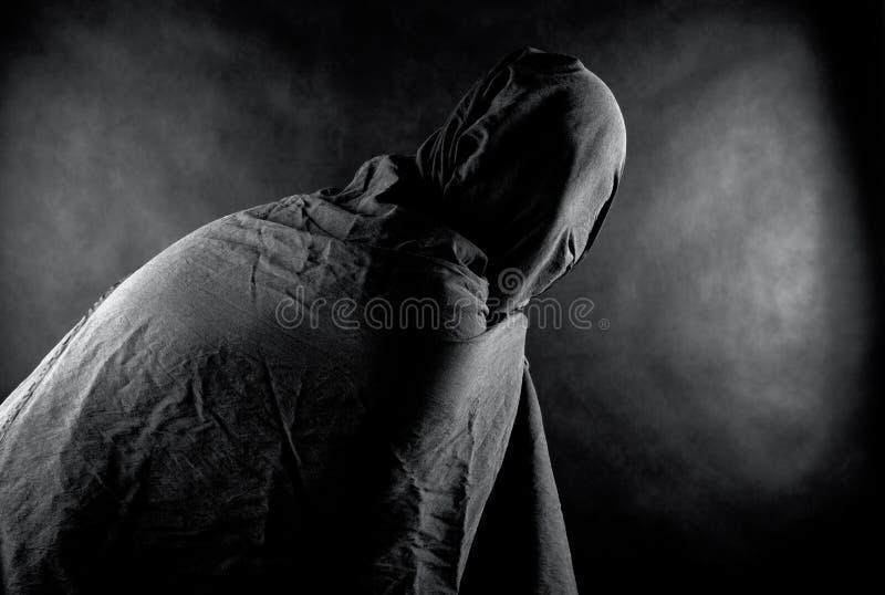 Spook in dark stock foto's