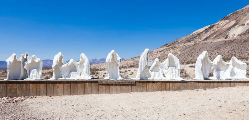 Spook in de woestijn stock afbeelding