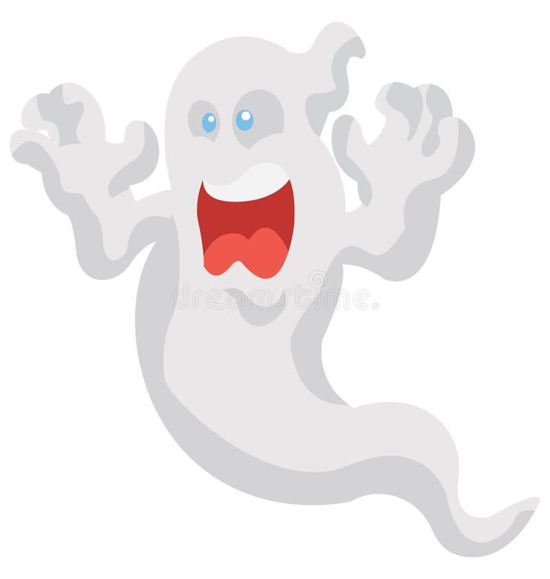 Spook Geïsoleerd het Pictogram speciaal gebruik van de Kleurenillustratie voor Halloween vector illustratie