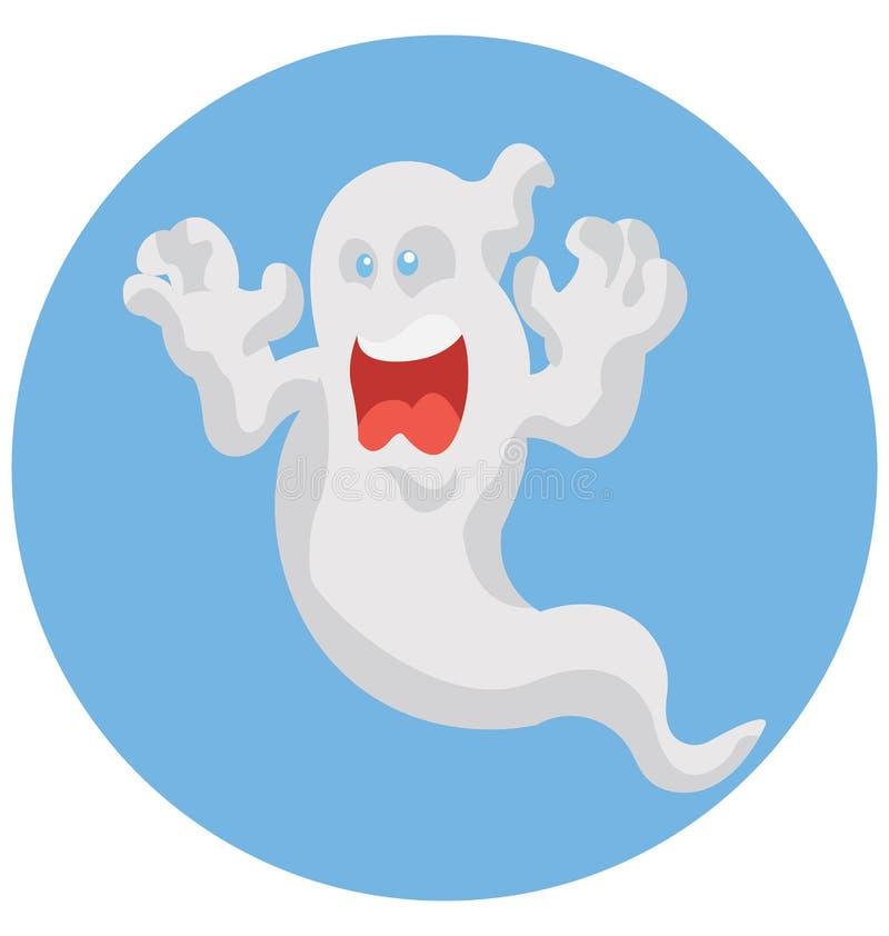 Spook Geïsoleerd het Pictogram speciaal gebruik van de Kleurenillustratie voor Halloween royalty-vrije illustratie