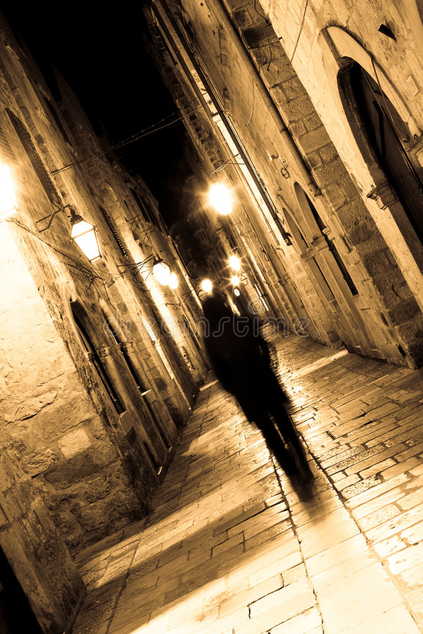 Spook in straten 01 stock foto
