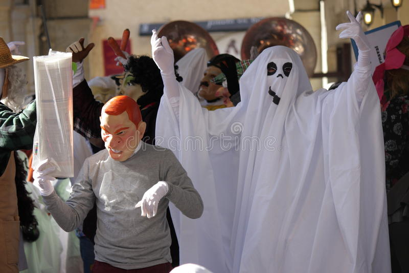 Spook tijdens Carnaval van Limoux royalty-vrije stock fotografie