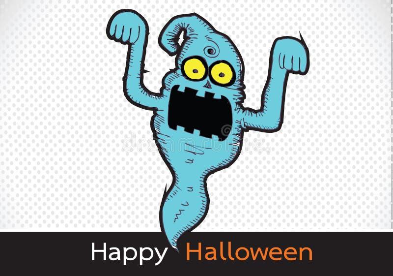 Spook voor Halloween stock illustratie