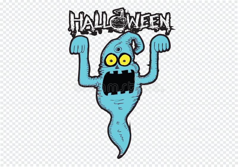 Spook voor Halloween vector illustratie