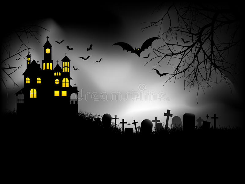Spookhuis royalty-vrije illustratie