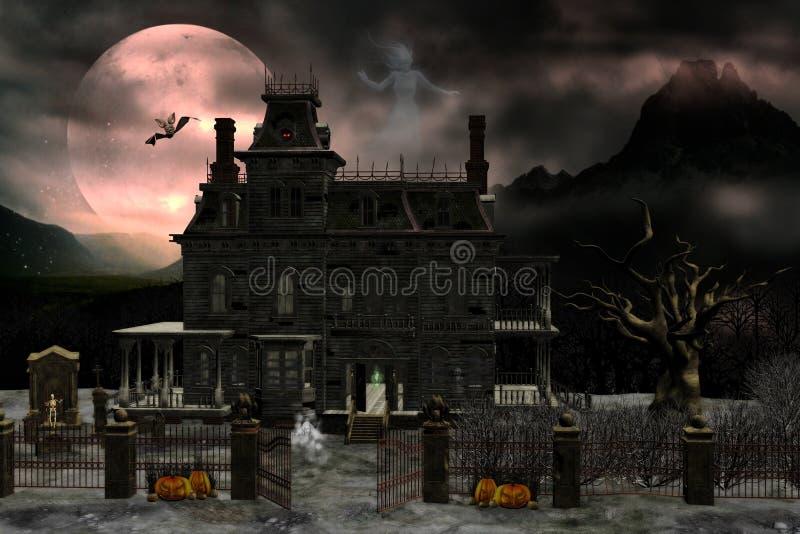 Spookhuis 2 stock illustratie