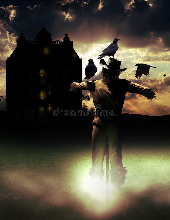 Spookhuis stock illustratie