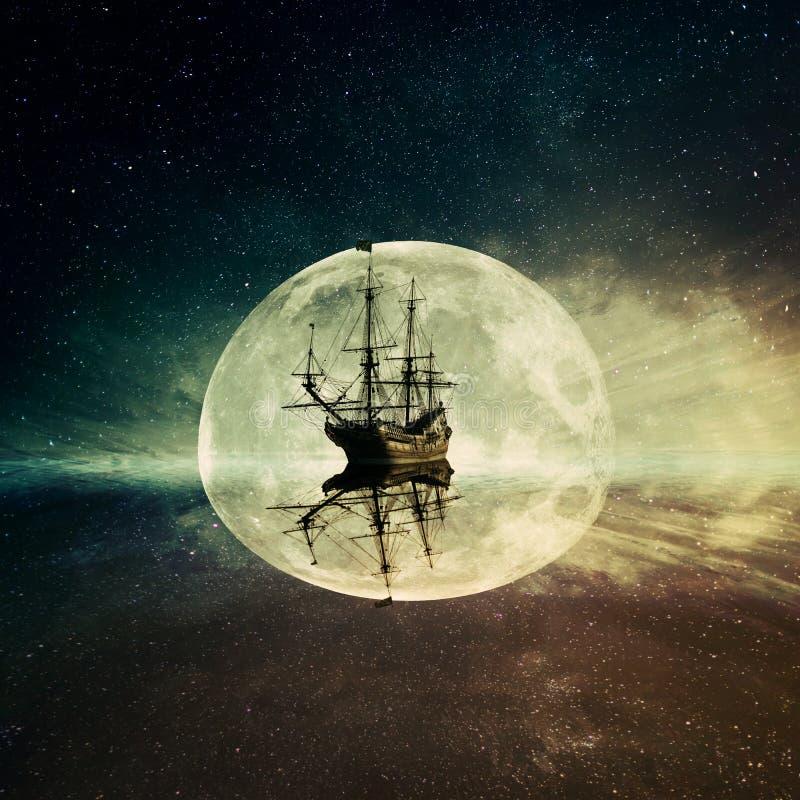 Spookschip royalty-vrije illustratie