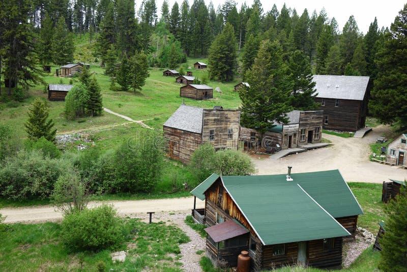 Spookstad - Granaat, Montana royalty-vrije stock afbeelding