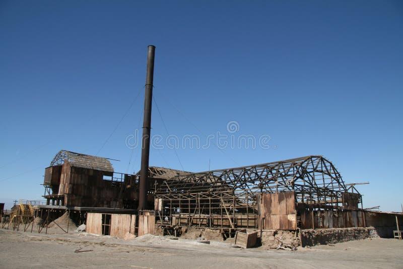 Spookstad in Norte Grande, Chili royalty-vrije stock foto's