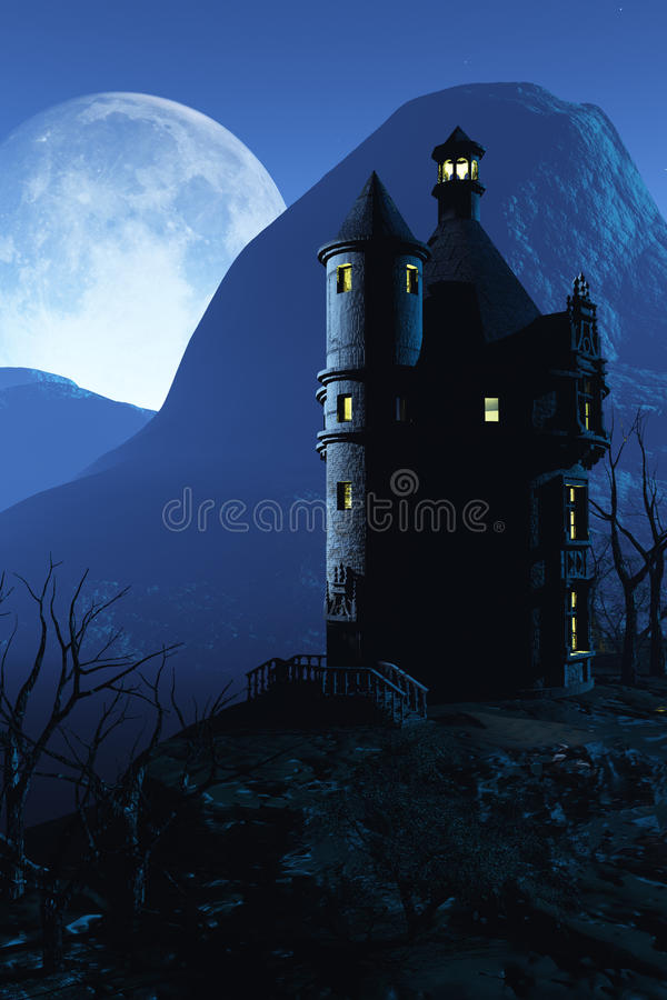Spooky Castle vector illustration