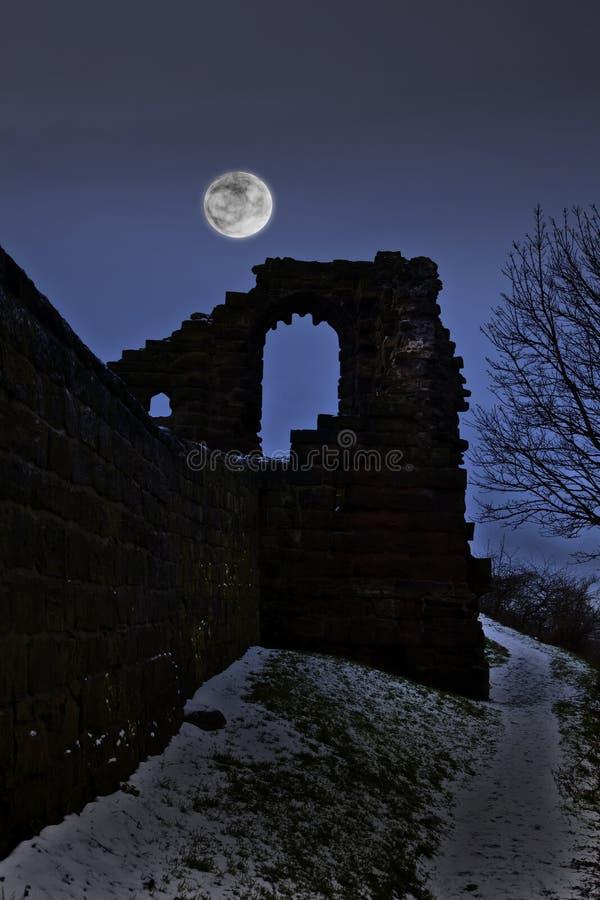Spooky castle stock images