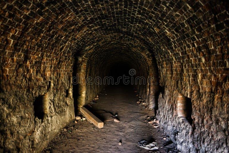Spooky Corridor In Abandoned Building stock photos