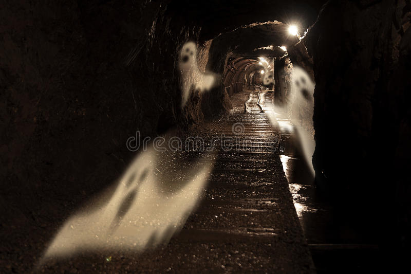 Spooky gold mine royalty free stock photography