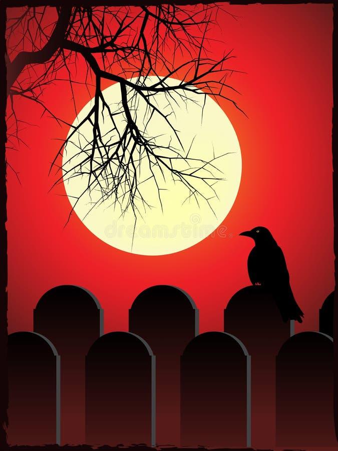 Download Spooky graveyard stock vector. Image of nocturnal, illustration - 19960139