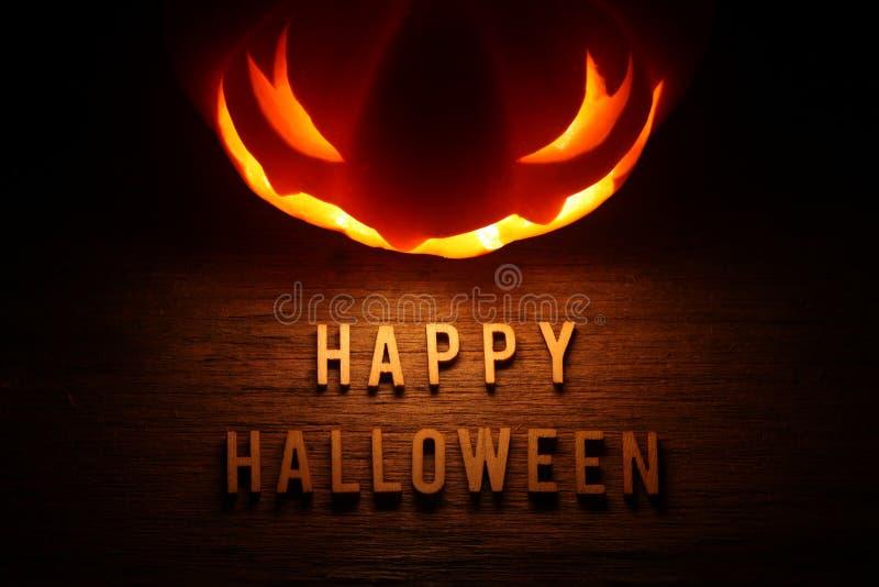Spooky Halloween background with jack o lantern. Happy Halloween stock image