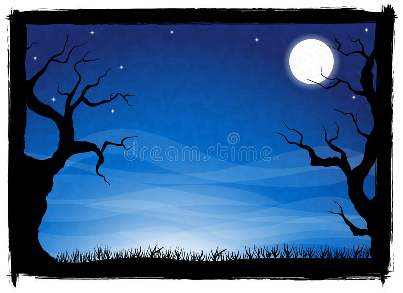 Spooky halloween background vector illustration