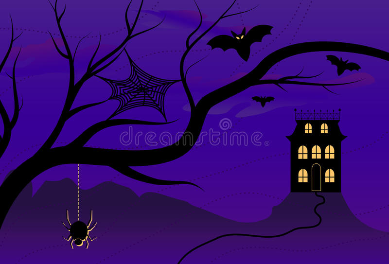 Download Spooky Halloween House stock vector. Illustration of mansion - 9752651