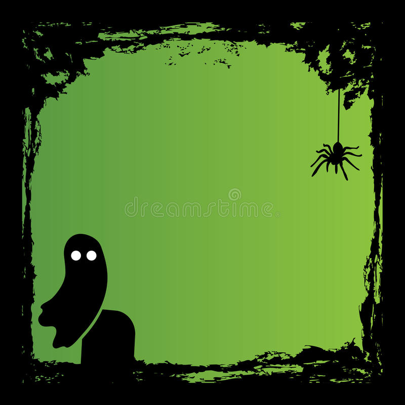 Spooky halloween.  illustration in vector format. Abstract vector illustration stock image