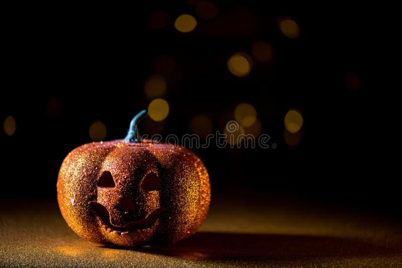 Spooky halloween Jack O Lantern background. A Spooky halloween dark background with a Jack O Lantern stock photo