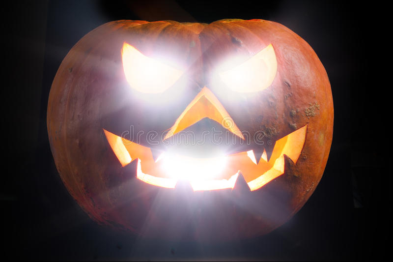 Spooky Halloween Pumpkin Shiny stock images