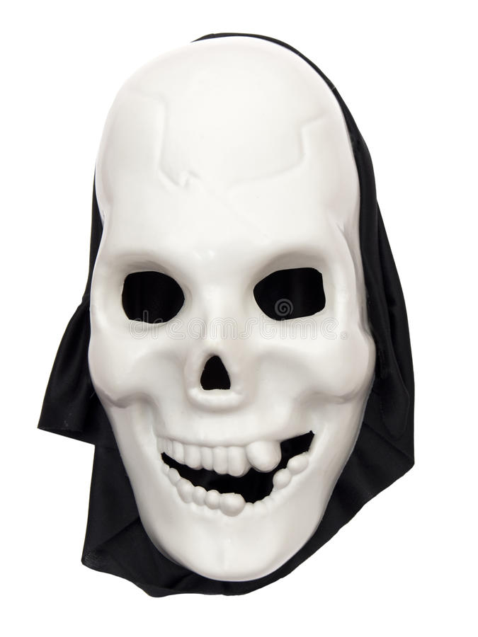Free Spooky Halloween Skull Mask On White Royalty Free Stock Images - 11937699
