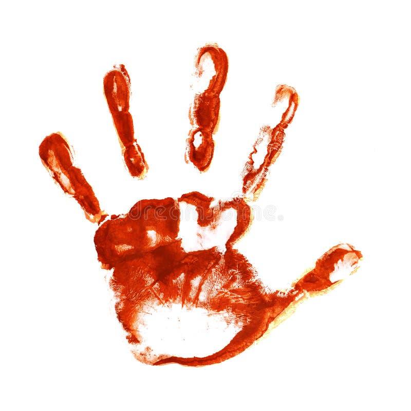 Spooky hand prints stock image