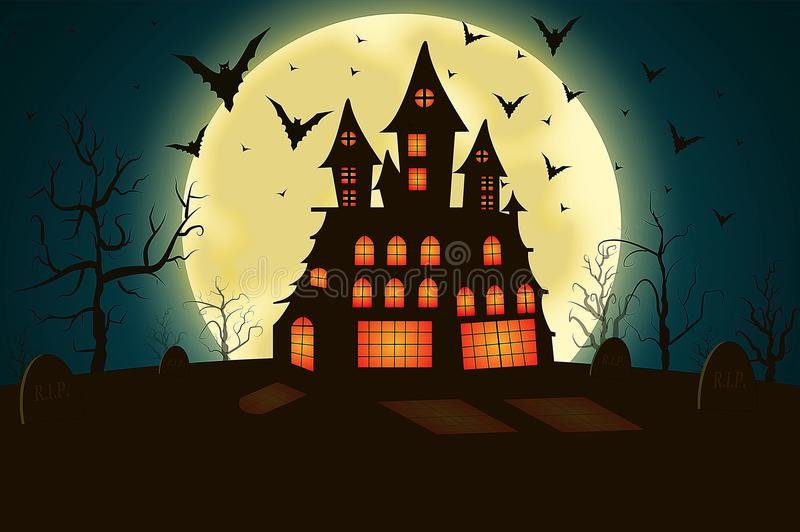 Spooky house royalty free illustration