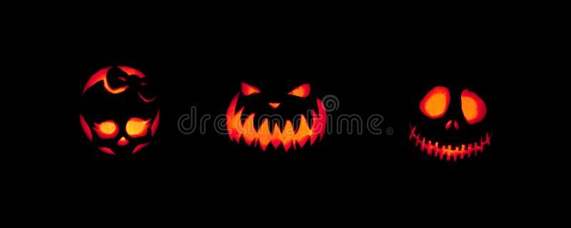 Spooky Jack-o-lanterns Outdoors stock photography
