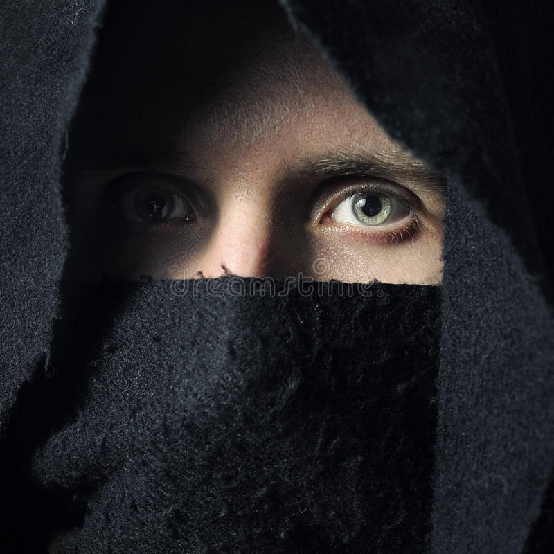 Download Spooky man in hood stock image. Image of crime, gothic - 19212453