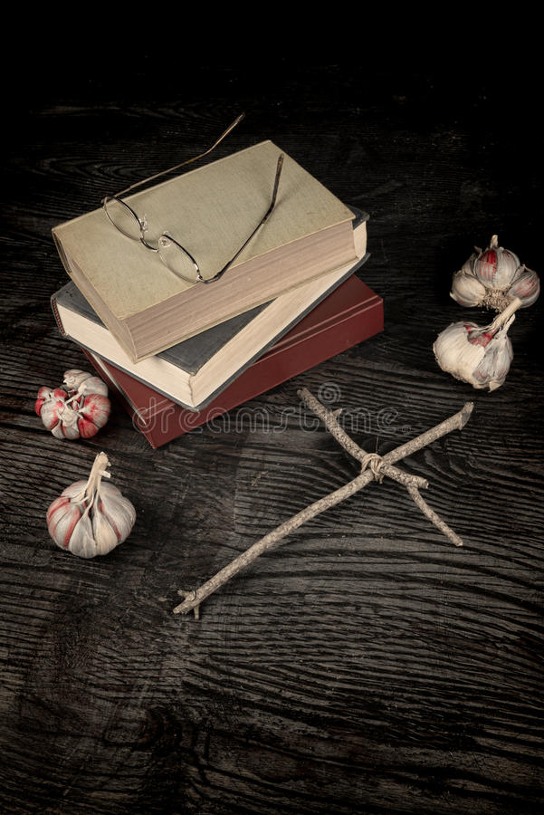 Spooky novels royalty free stock photo