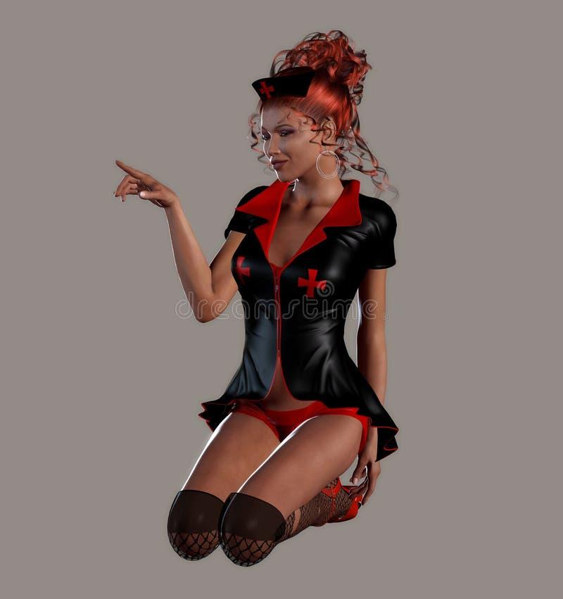 Download Spooky Nurse stock illustration. Image of feminine, gorgeous - 11165986