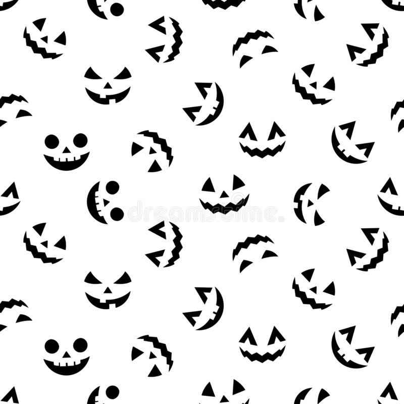 Halloween decorative seamless pattern. royalty free illustration