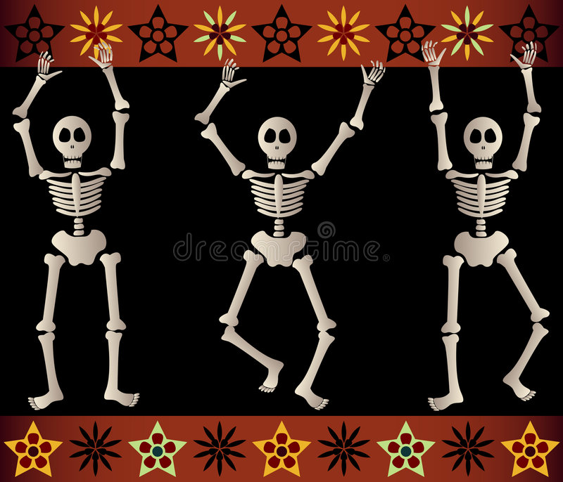 Download Spooky Skeletons stock illustration. Image of death, scare - 1424347