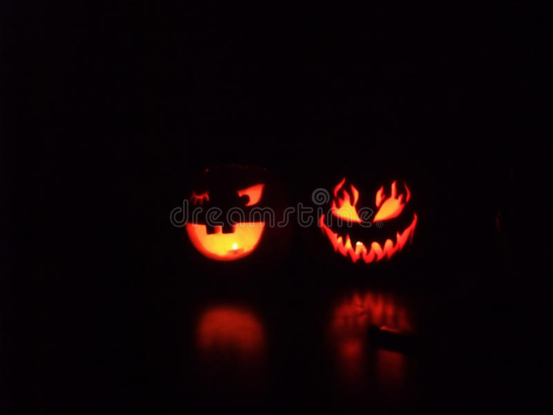 Download Spooky And Smiling Halloween Pumpkins Stock Photo - Image of pumpkins, trick: 11517966