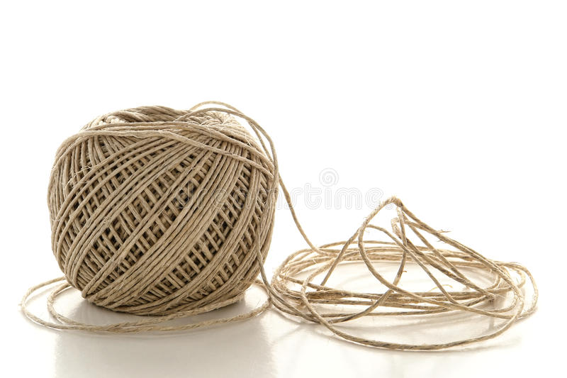Spool of Natural Fiber Twine String over White royalty free stock image