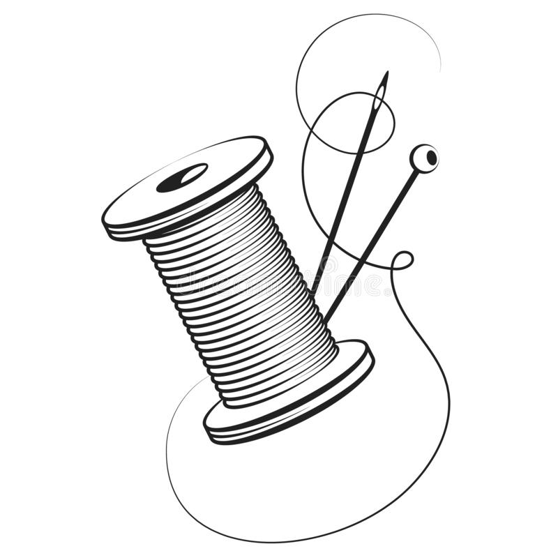 Free Spool Of Thread And Needle Royalty Free Stock Images - 157606879