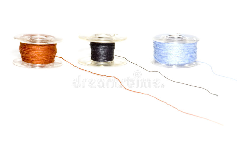Spool sewing stock photography